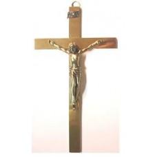 Krzyż wiszący 16cm. mosiądz