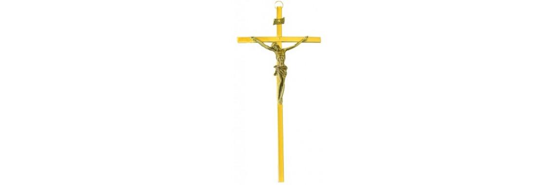 Krzyż wiszący 17,5cm mosiądz