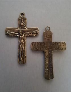 Krzyż Bierzmowanie 7cm mosiądz