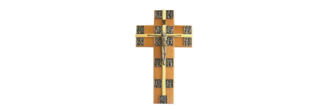 Krzyż z drogą krzyżową duży
