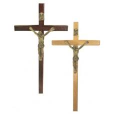 Krzyż wiszący 15cm drewno