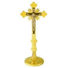 Krzyż tradycyjny h18 mosiądz oxyda