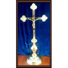 Krzyż ołtarzowy h59/plaskownik mosiądz