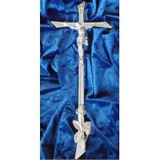 Krzyż odlew 42/16Chrom K-13 z Róża