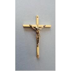 Krzyż 7,5cm mosiądz z otworami