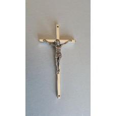 Krzyż 10cm nikiel z otworami